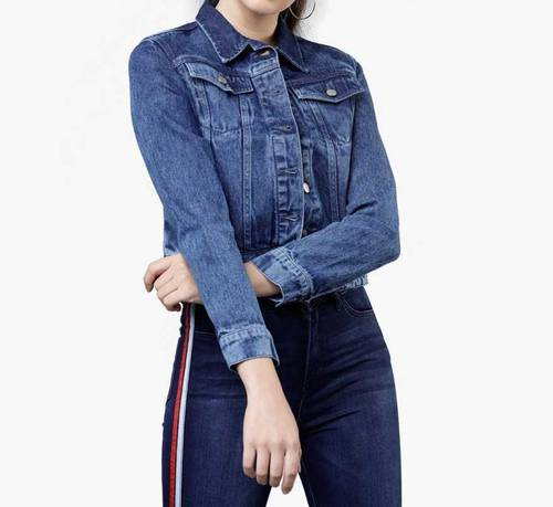 Women S Fashion Winter Jeans Jacket Tops By Noor